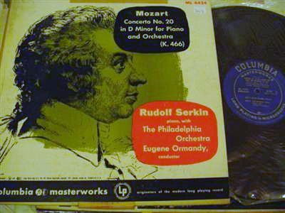 RUDOLF SERKIN PIANO - MOZART 20 - COLUMBIA ML